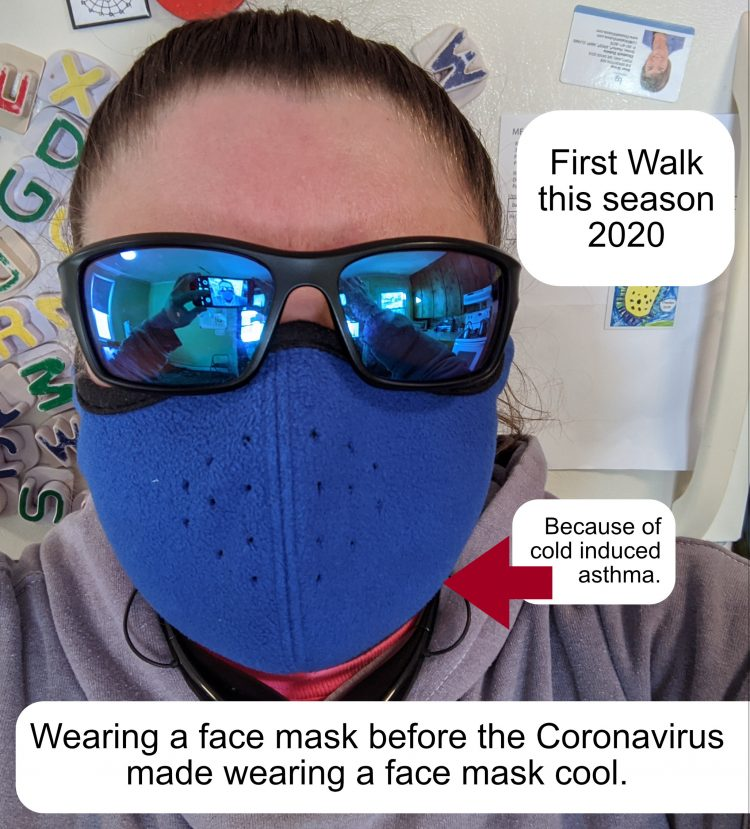 Wearing a face mask before the coronavirus made face masks cool